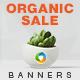 Organic Sale Banners