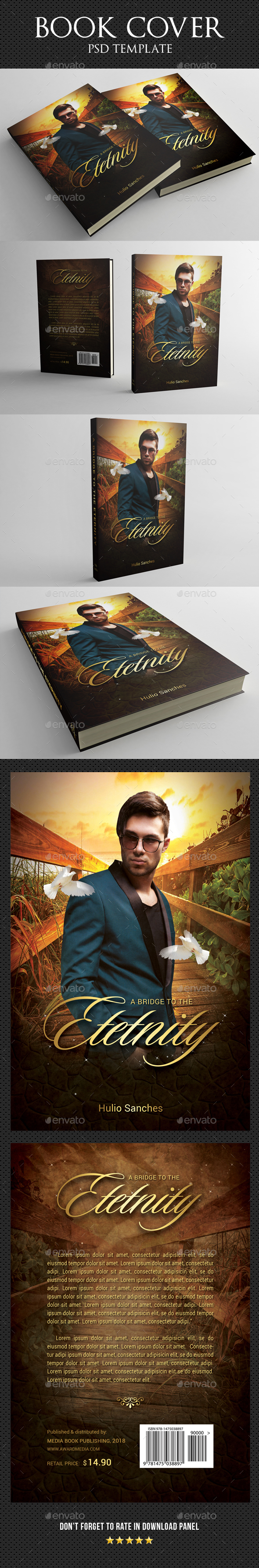 Book Cover Template 38 - Miscellaneous Print Templates