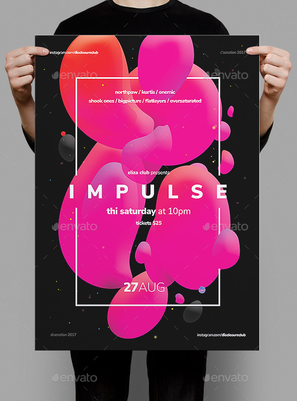 Impulse Flyer / Poster - Clubs & Parties Events