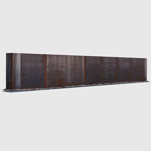 Rusty Metal Wall - 3DOcean Item for Sale