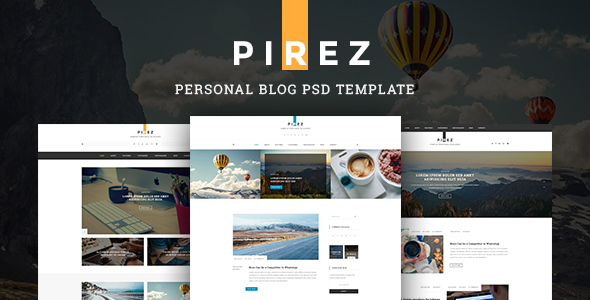 ThemeForest PIREZ Blogging PSD 20454000