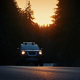 Car Drives In Forest On Summer Evening - VideoHive Item for Sale