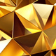 Lowpoly Gold Background