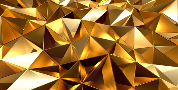 lowpoly gold background by as 100