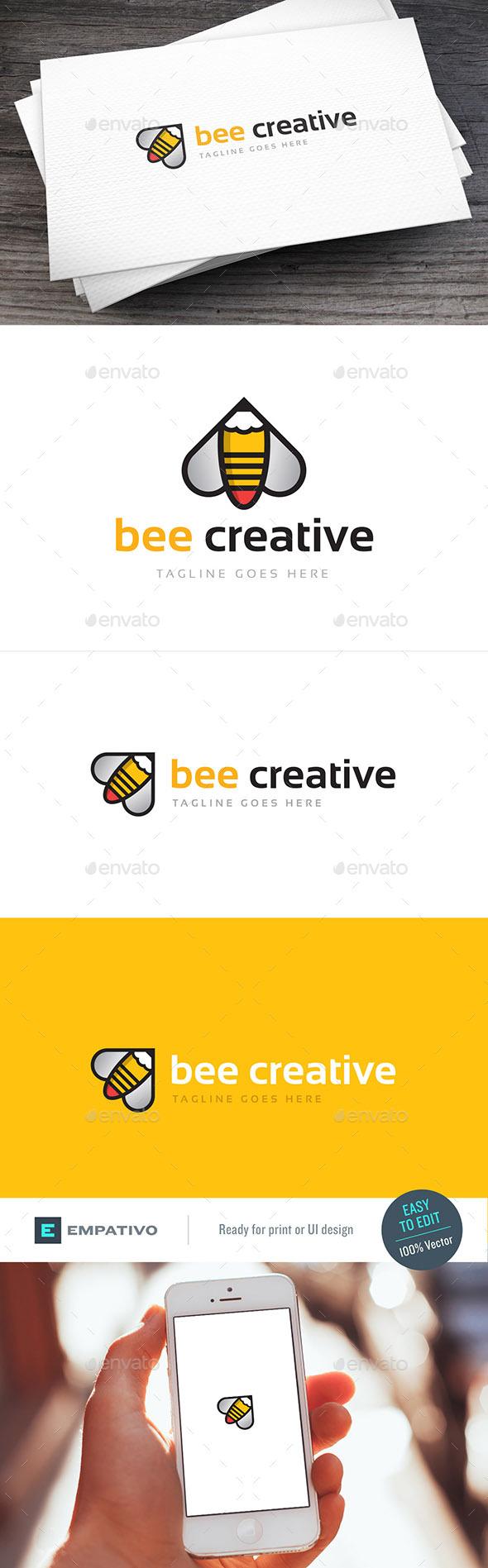 Bee Creative Logo Template - Symbols Logo Templates