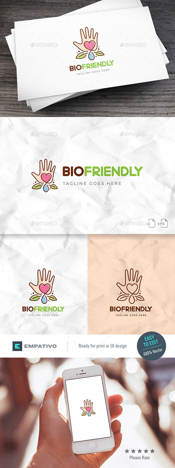 Bio Friendly Logo Template - Nature Logo Templates