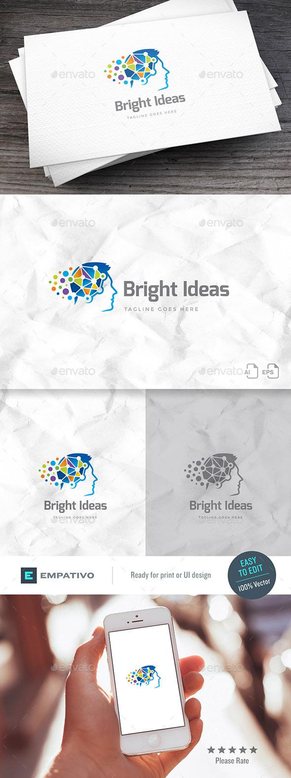Bright Ideas Logo Template - Humans Logo Templates