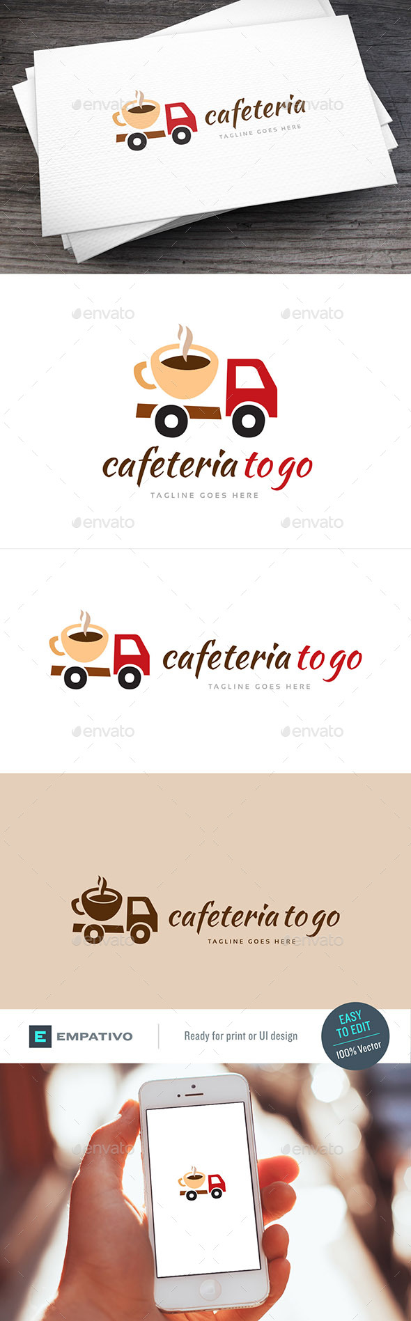 Coffee To Go Logo Template - Food Logo Templates
