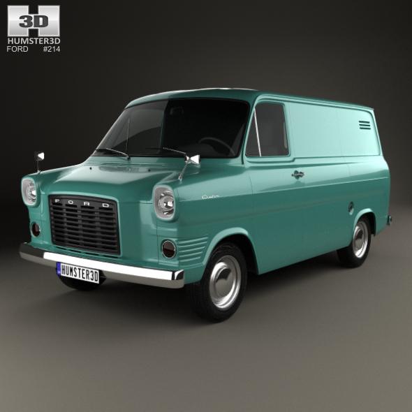 Ford Transit Panel Van 1965 - 3DOcean Item for Sale