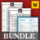 Resume Word Bundle - GraphicRiver Item for Sale