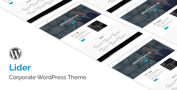 Lider - Responsive Multipurpose WordPress Theme - Business Corporate