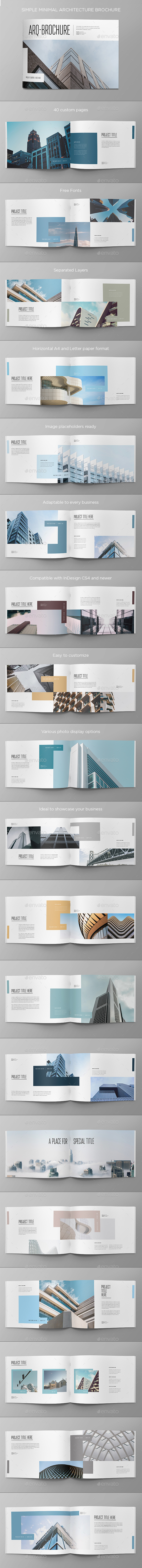 Simple Minimal Architecture Brochure - Brochures Print Templates