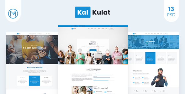 ThemeForest Kalkulat PSD Template 20338766