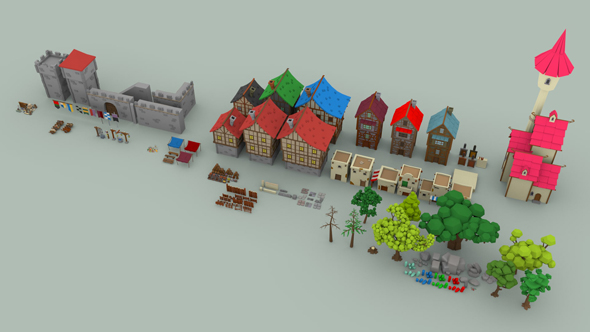 3DOcean Medieval City Pack 20454382