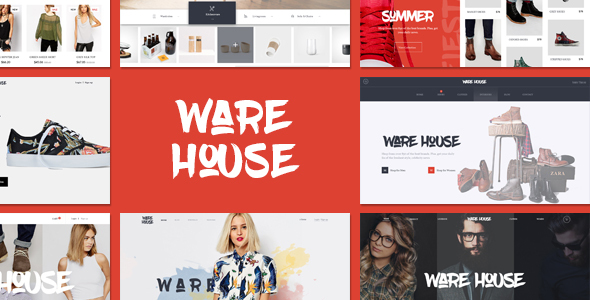 Warehouse – multipurpose ecommerce PSD template Free Download