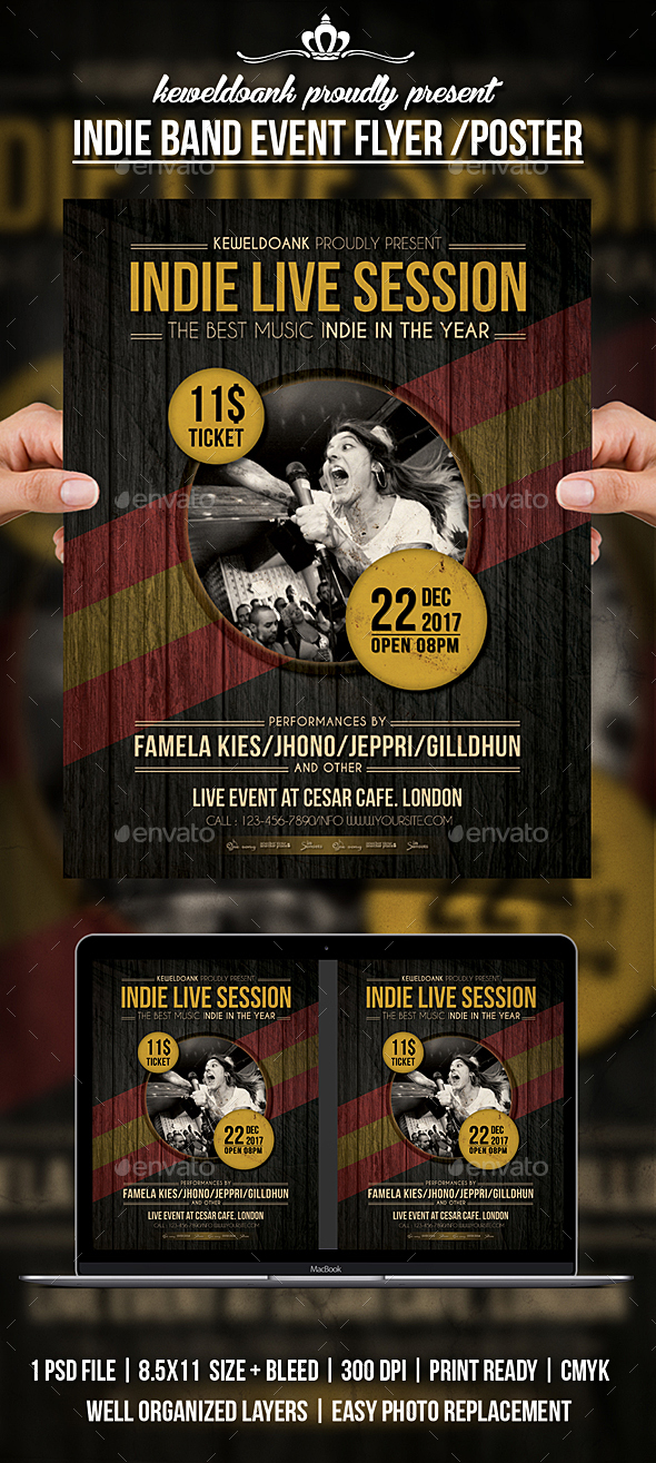 GraphicRiver Indie Band Event Flyer Poster 20454734