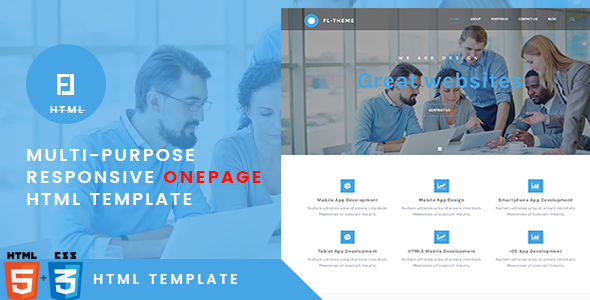 Fl -Multi-Purpose Responsive OnePage HTML Template by themesflat