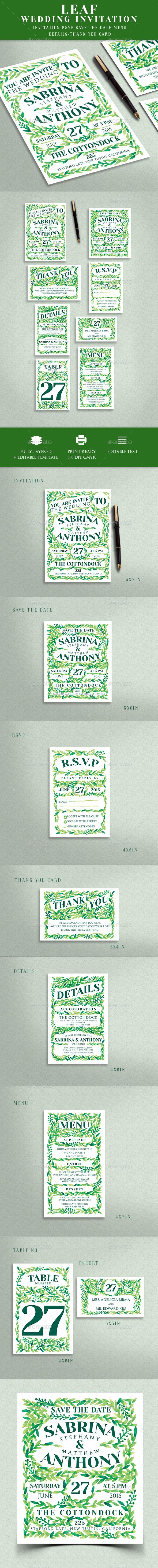 GraphicRiver Wedding Invitation 20454808