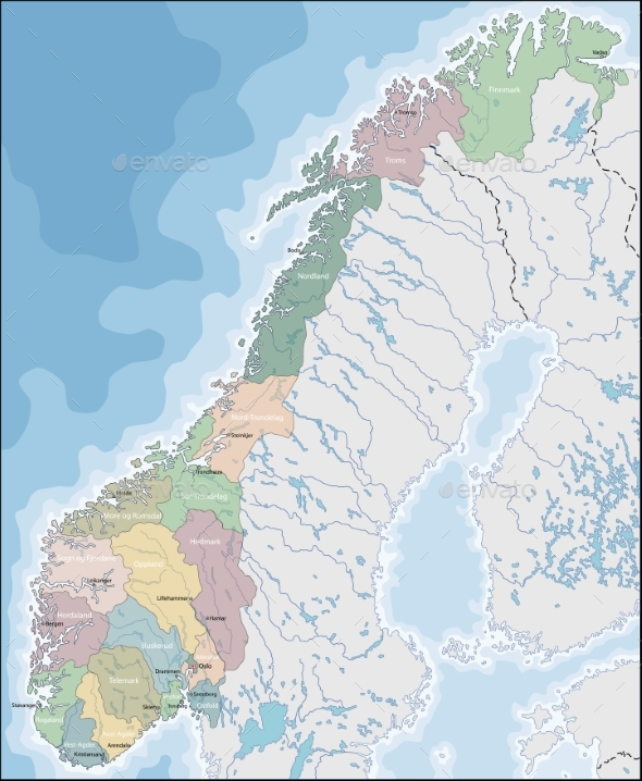GraphicRiver Map of Norway 20454890