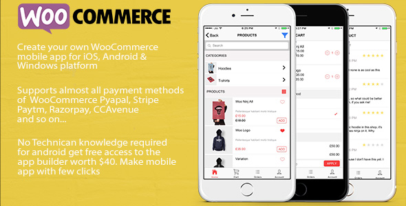 Ionic 3 tab App for WooCommerce - CodeCanyon Item for Sale