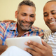 Happy Gay Couple Homosexual People Men Using Computer - PhotoDune Item for Sale