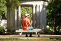 Blind Man Sitting In City Park And Resting - PhotoDune Item for Sale