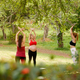 Pregnant Women Doing Yoga With Personal Trainer In Park - PhotoDune Item for Sale