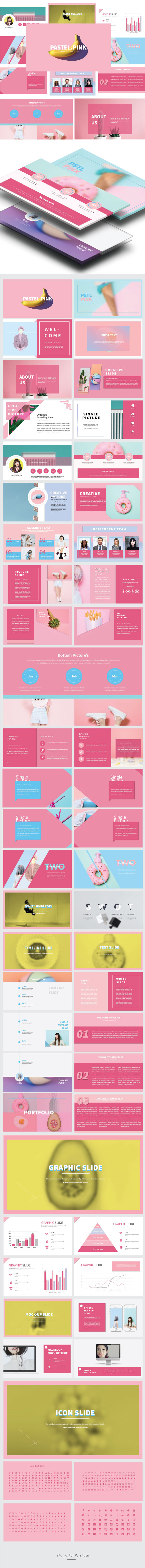 Pstl Pink - Multipurpose Presentation Templates - PowerPoint Templates Presentation Templates