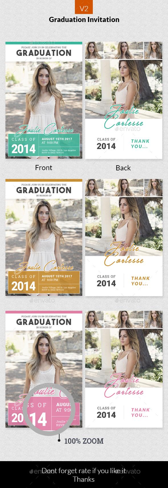 Graduation Invitation v2 - Invitations Cards & Invites