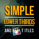 Simple Lower Thirds and Titles FCPX - VideoHive Item for Sale