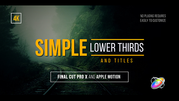 Simple lower thirds and titles fcpx by whitemarker videohive for Final cut pro lower thirds templates