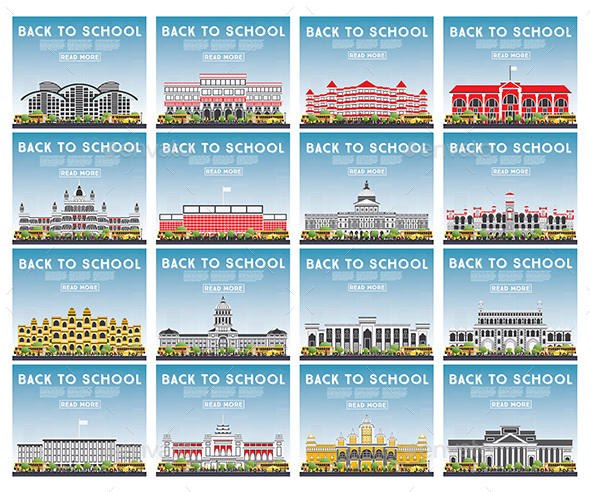 GraphicRiver Set of University High School and College Study Banners 20455163
