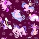 Cute Unicorn Seamless Pattern, Magic Pegasus