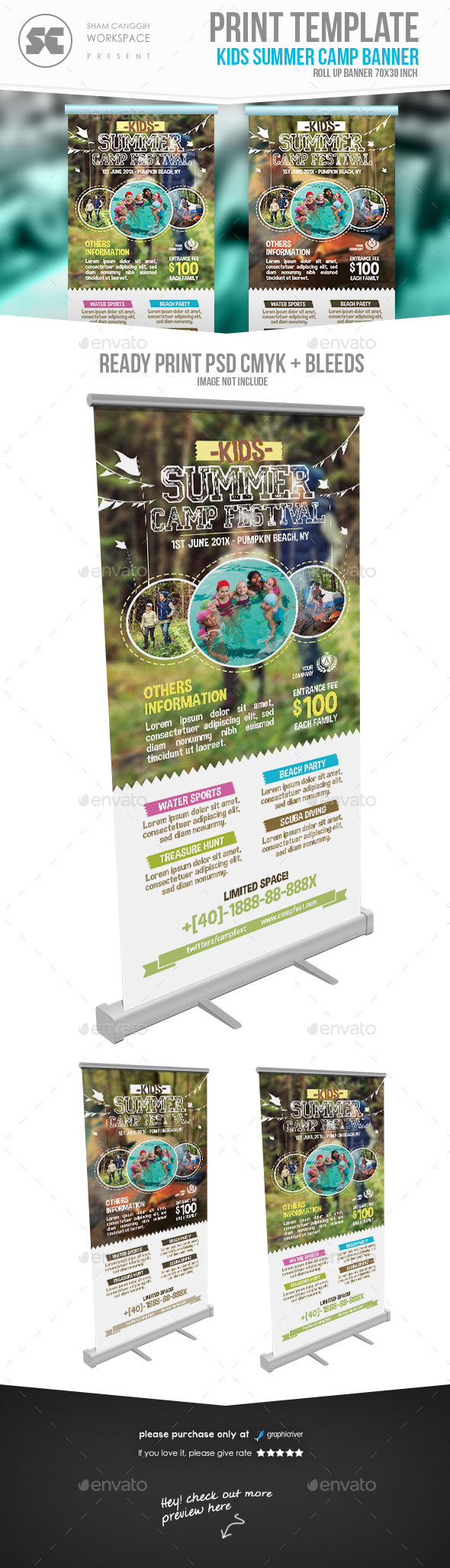 Summer Camp Banner - Signage Print Templates