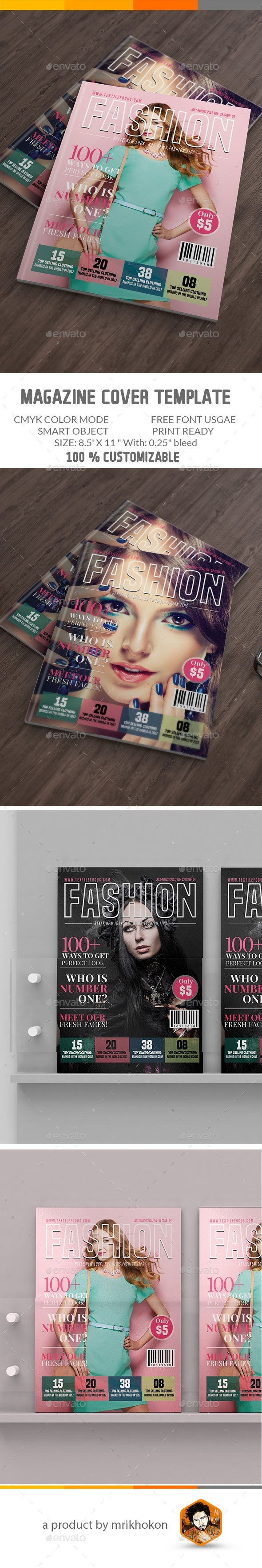 GraphicRiver Magazine Cover Template 20455259