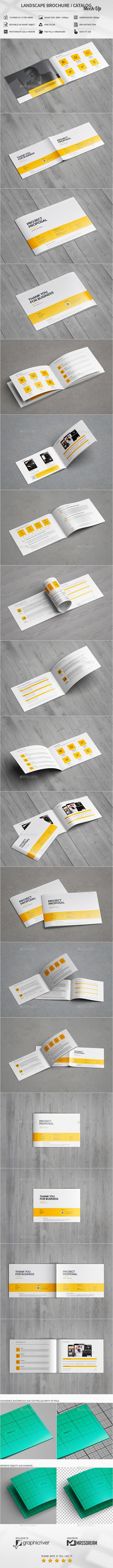 GraphicRiver Landscape Brochure Catalog Mock-Up 20455379