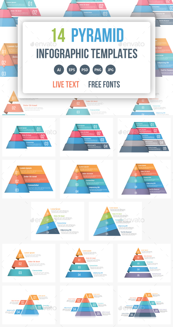 Pyramid Infographics Bundle - Infographics