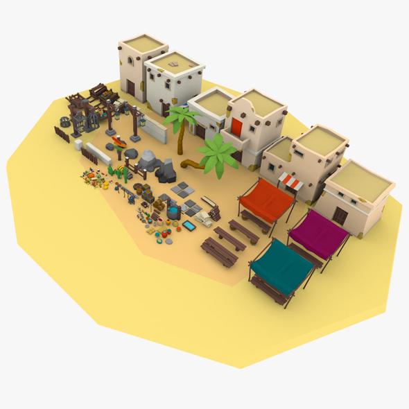 3DOcean Desert City Pack 20455520
