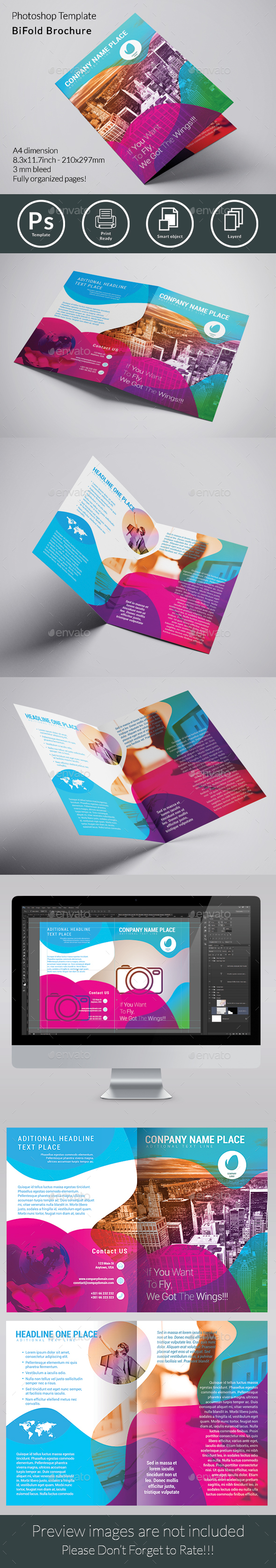 Abstract Bifold Brochure - Brochures Print Templates