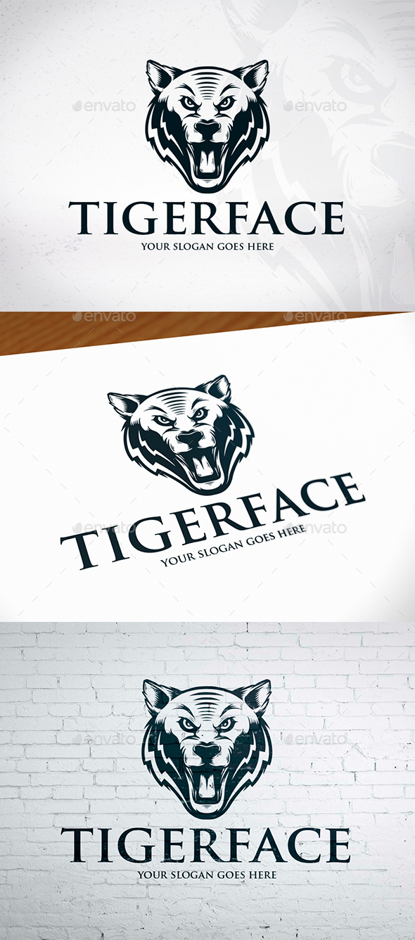 GraphicRiver Wild Tiger Logo 20455652