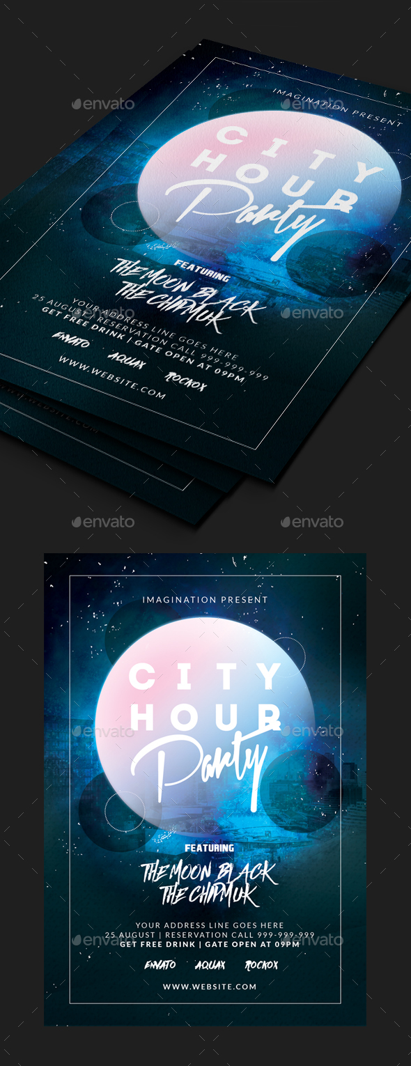 Night City Flyer - Clubs & Parties Events