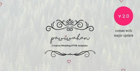 Pawiwahan - Onepage Wedding HTML Template