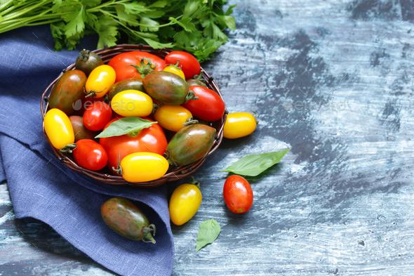 Ripe Organic Tomatoes - Stock Photo - Images