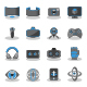 Flat icons for Virtual Reality.