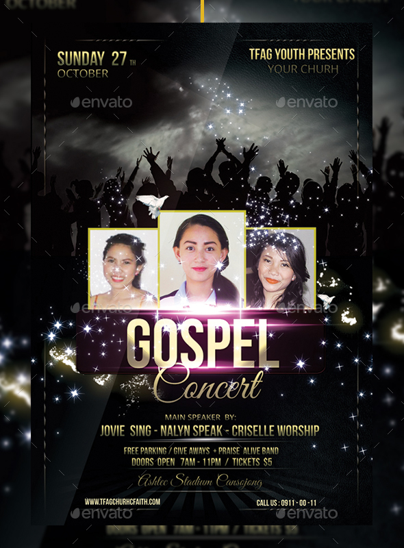 GraphicRiver Gospel Concert Church Flyer 20455754