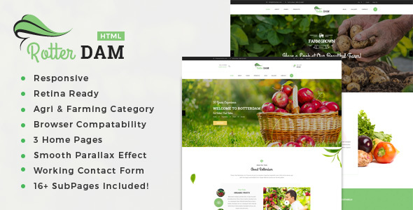 Rotterdam - Organic Food and Beauty Products HTML Template