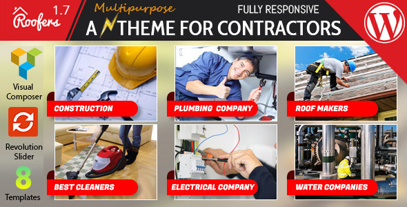 Roofers - WordPress Theme For Construction, Contractor Companies - Corporate WordPress