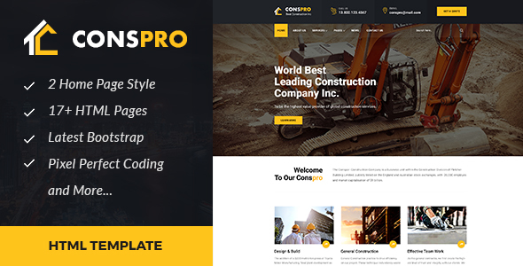 Conspro - Construction and Builder HTML Template
