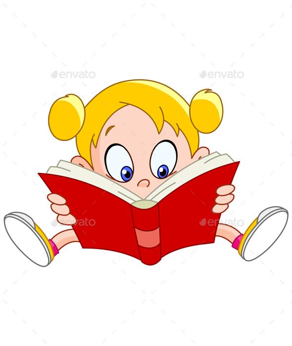 GraphicRiver Girl Reading Book 20455925