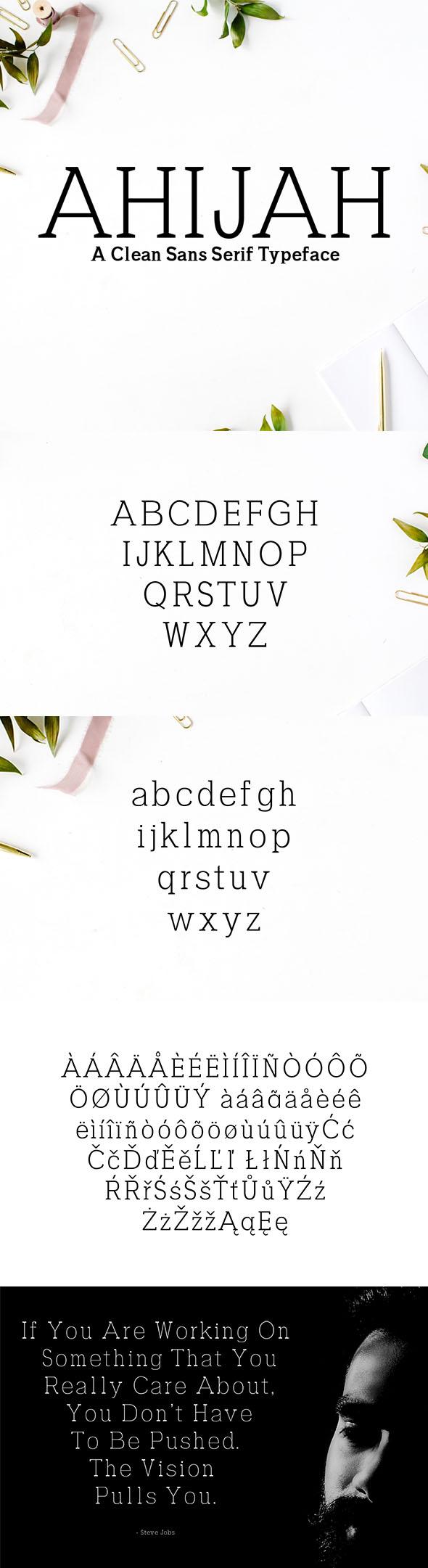 Ahijah A Clean Sans Serif Typeface - Sans-Serif Fonts